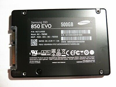"Samsung 850 EVO 2.5"" 500GB Internal Solid State Drive - Black (MZ-75E500)"