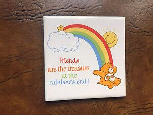 Care Bear Friend Bear Collectible Tile Plaque
