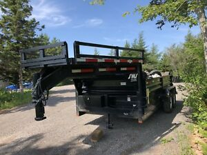 14 ft SWS Dump-Box Trailer for sale
