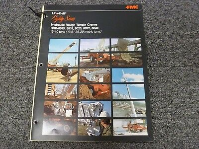 Link Belt Hsp-8015 Rough Terrain Crane Specifications Lifting Capacities Manual