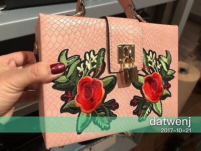 Nwt Aldo Naranjilla Light Pink Flower Top Handle Box Handbag Crossbody