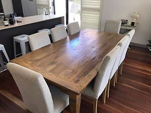 8 seater timber table Neutral Bay North Sydney Area Preview