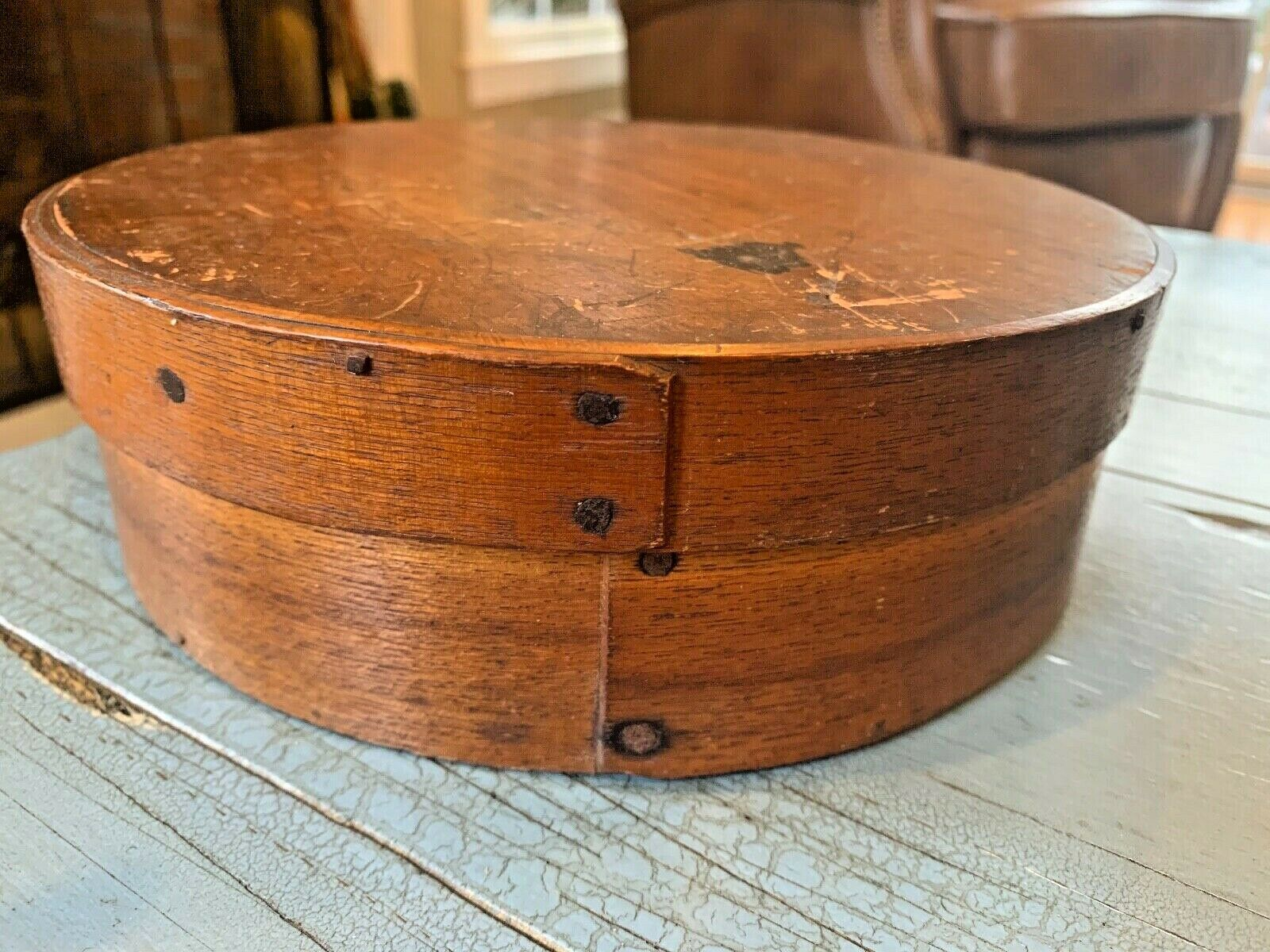 Rare Antique Pantry Box Grain Measure W/ Lid Cheese Wooden Rustic Wood 8 MA  - $49.99