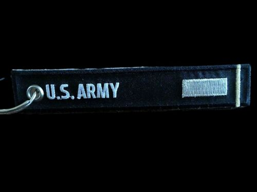 "U.S MILITARY ARMY 1st LIEUTENANT KEY CHAIN KEY RING FOB 5 1/2"" X 1"" INCHES"