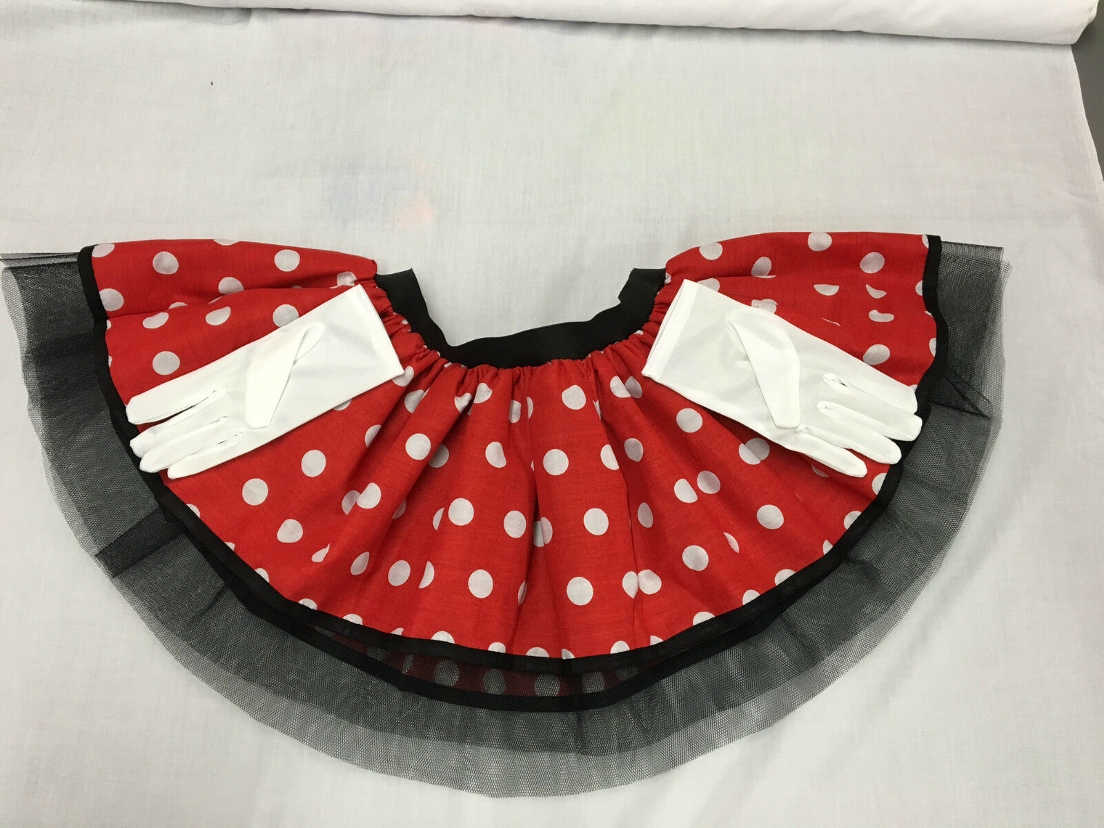 fba903ffe6f9 MINNIE MOUSE SKIRT TUTU EARS HEADBAND BOW RED WHITE POLKA DOT 80S FANCY  DRESS