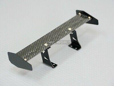 RC 1/10 Car Accessories CARBON FIBER Single WING SPOILER For DRIFT Cars BLACK