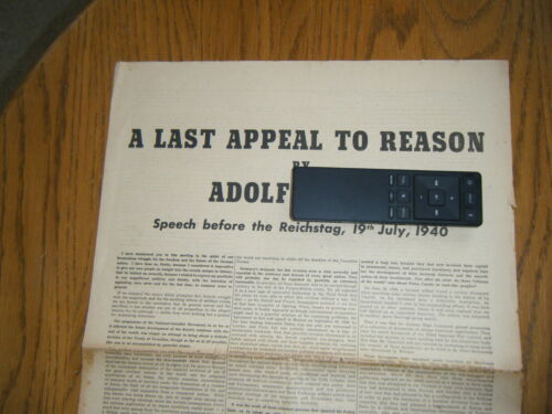 Propaganda leaflet dropped by Germans with Last Appeal by Adolf H. - Original