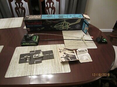 Mattel VertiBird Night Patrol Helicopter w/Box Works