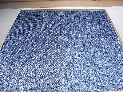 64 blue patterned Carpet Tiles. New & Unused.