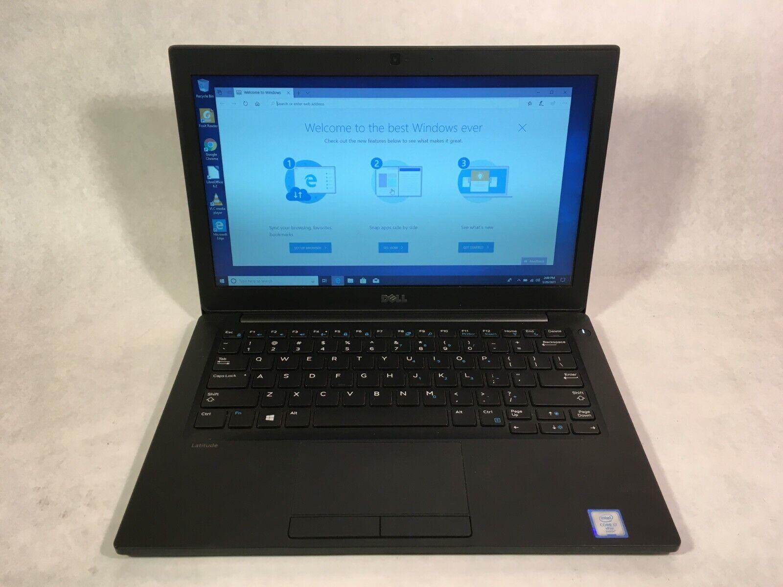 "Laptop Windows - Dell Latitude 7280 12.5"" Laptop Intel i7-6600U 2.6GHz 4GB 128GB SSD Windows 10"