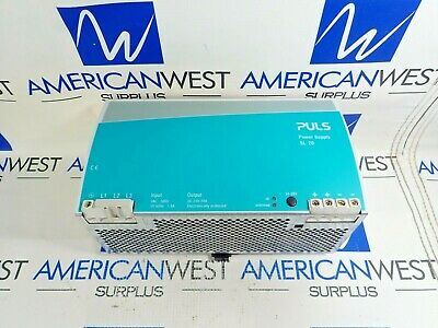 Puls Power Supply Sl 20 Input 3ac 500v 1.5aph Output Dc 24-48v 20a