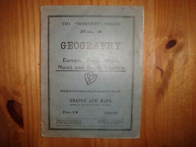 The Moreton series No 4 Geography of Europe, Asia, Africa, North and South Ameri