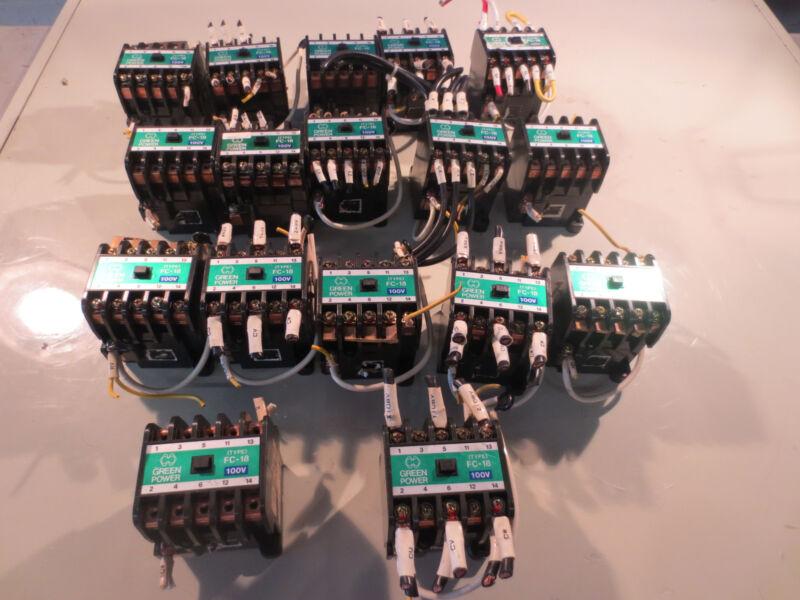 MATSUSHITA AC MAGNETIC CONTACTOR FC-18 100V each 1