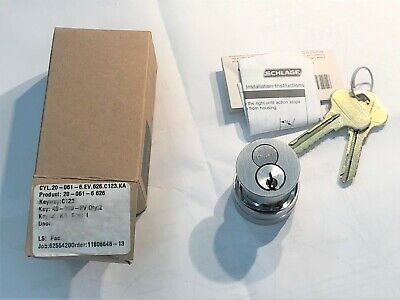 Schlage 20-061-6-626 Mortise Cylinder Interchangeable Core Nib