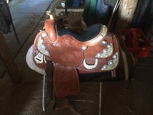 Like new western pleasure show saddle