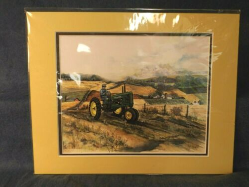 JOHN DEERE MODEL B ART PRINT by COLLEEN CARSON - SIGNED - MATTED