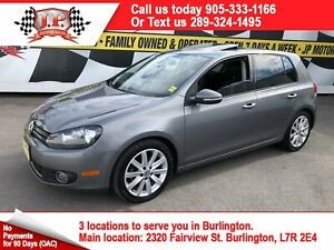 2012 Volkswagen Golf Highline, Auto, Navi, Leather, Sunroof, Die
