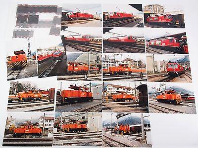 """18 Fotos mit Negativen - 5 verschiedene Lokomotiven der RhB - 1996 """"Xbe04"""