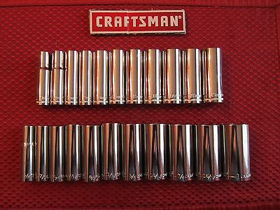 Craftsman   3 8  Drive 6 Point Deep Sockets   Choose Size   Free Shipping