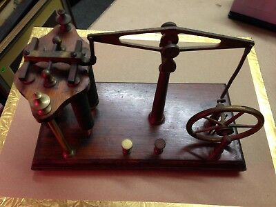 Antique Telegraph HomeMade Folkart Brass 1927
