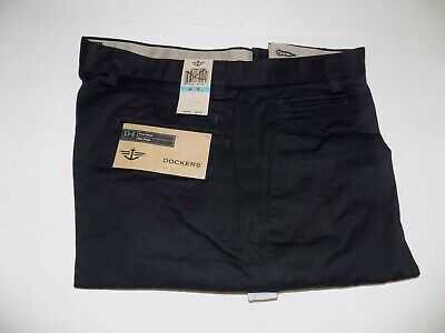 46 X 32 DOCKER PLEATED FRONT D4 TRUE CHINO RELAXED FIT KHAKIS - BLACK- NWT Pleats Relaxed Fit Khakis