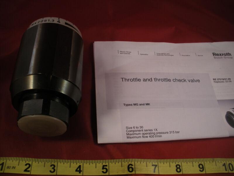 Rexroth MK20G1.3 Throttle Check Valve MK 20 G1,3 Bosch Size 20 Threaded New