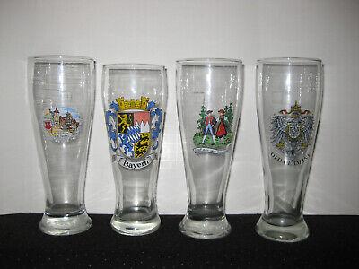 German Pilsner Lot of 4 German Beer Glasses Lot of 4 Rothenburg Black Forest
