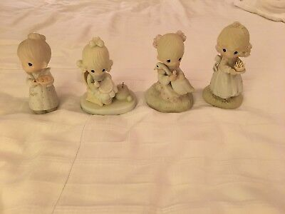Precious Moments Figurines Lot of 4 Used NO BOXES