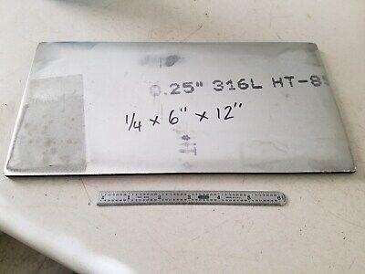 Stainless Steel Bar Plate Sheet 14 X 6 X 12  316l