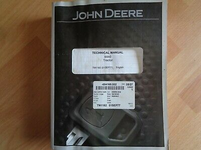 John Deere 4440 Tractor Technical Operation Test Manual Tm1182