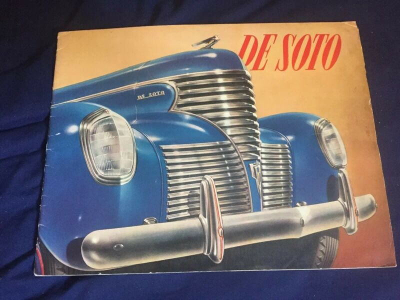 1939 DeSoto Large Prestige Original Color Brochure Catalog Prospekt