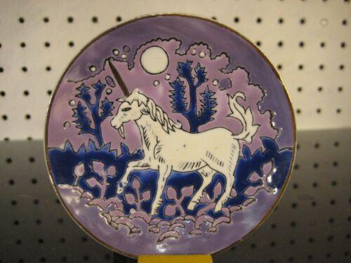 80s Unicorn Small Fantasy Collector Plate by Fingerhut