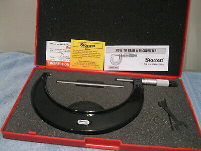 Starrett 436.1xrl-6 Micrometer Wstandard No Engravingsmachinist Tool