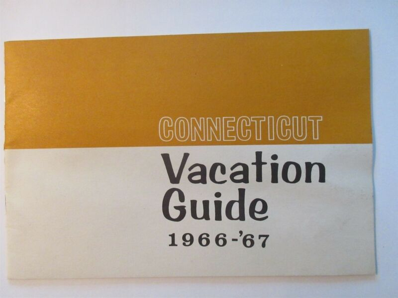 Connecticut Vacation Guide 1966 1967 - 16 pages Vintage Booklet