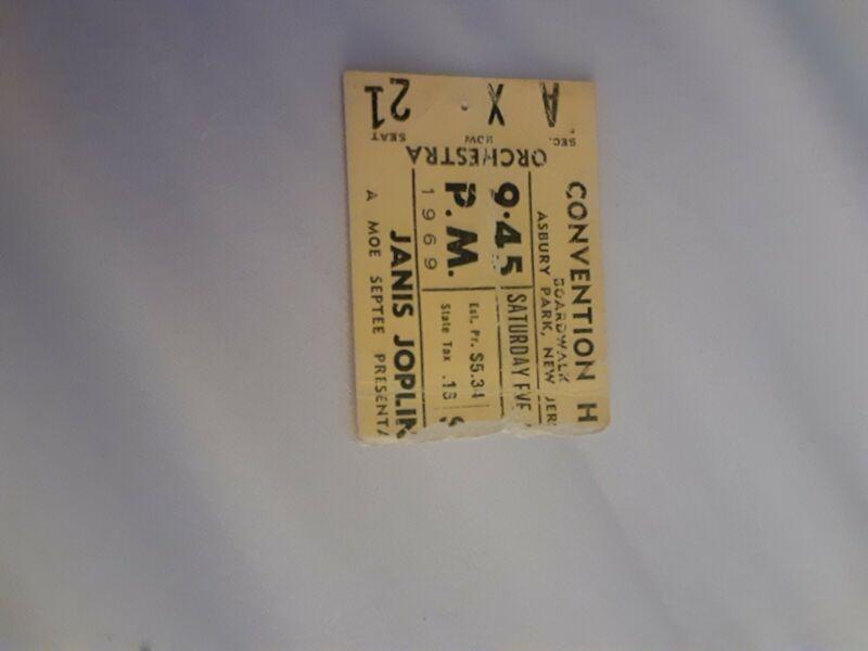 Janis Joplin Ticket Stub 1969