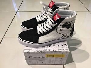 Vans x Peanuts Sk8 Hi  Joe Cool/Black Size 9US