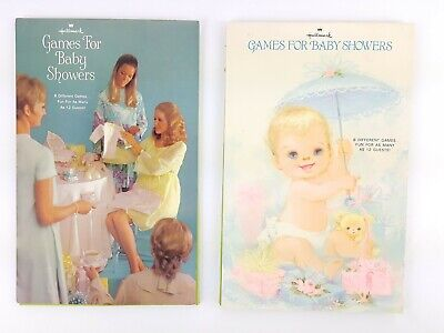 Vintage Baby Shower Decorations (Lot of 2 Vintage Hallmark Baby Shower Games Party Blank Sheets)