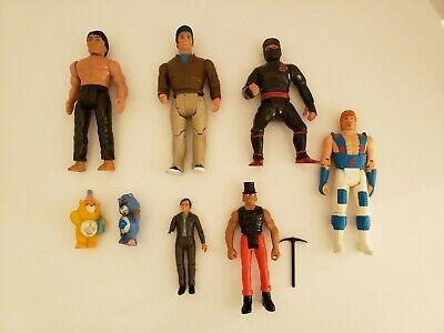 Vintage Action Figure Lot (8) Karate Kid, A Team, Mash, Chuck Norris, Care...