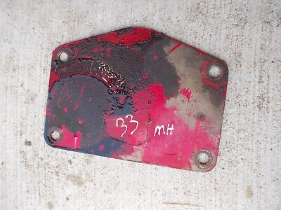 Massey Harris 33 Tractor Mh Cover Panel Plate