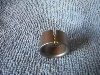 NIESSING Ring Abacus Steel with Gold Beads Size O /EU 55  NEW NP £155.-
