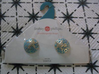 Lindsay Phillips Pair of  Shoe Starfish Turquoise Snaps Last One & Rare!  NIP