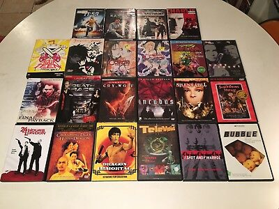 Horror Action Crime Cult & Anime DVD Lot of 22 Incubus Silent Hill Final Fantasy