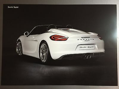 Porsche Boxster Spyder Showroom Advertising Poster RARE Awesome L@@K