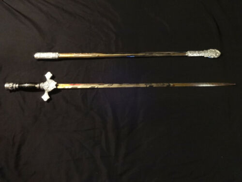 ANTIQUE KNIGHTS OF COLUMBUS SWORD AND SCABBARD LYNCH & KELLY INC UTICA NY