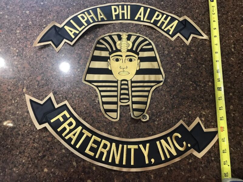 New Alpha Phi Alpha Top/Bottom/Center Spinx Patches