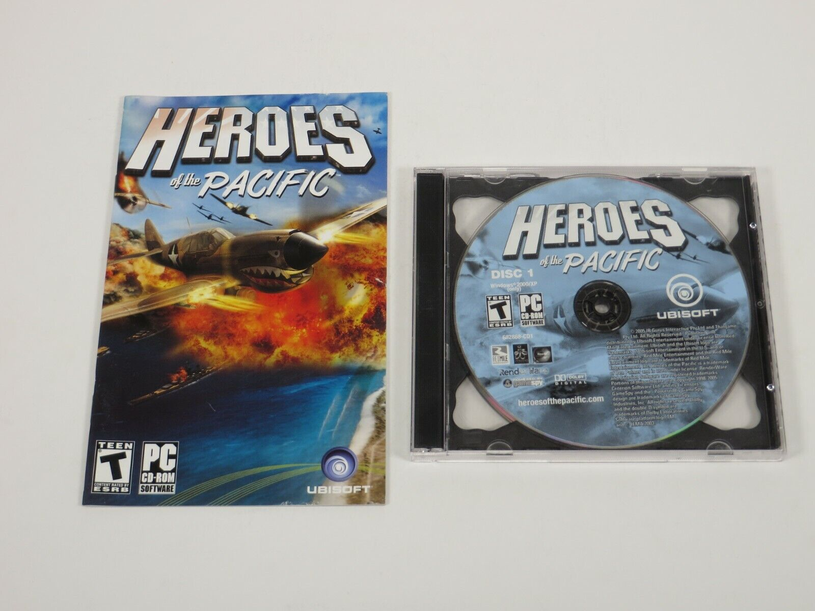 Computer Games - Heroes of the Pacific (PC, 2005) PC Vintage Computer Game Ubisoft