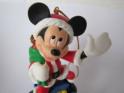 Mickey Mouse on Train Grolier Disney Christmas Ornament Mint in Box