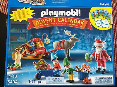 Playmobil 5494 Santa's Workshop Christmas Advent Calendar Ages 4-10 Rudolf