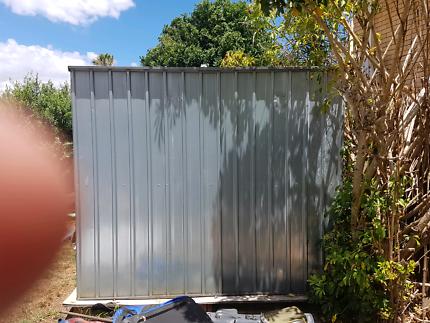 Galvanized garden shed