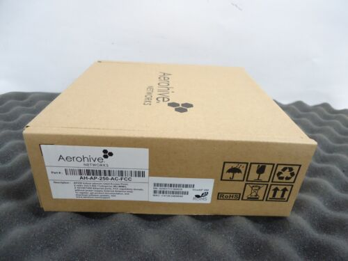 NEW Aerohive Networks AP250 AH-AP250-AC-FCC Indoor PLENUM RATED ACCESS POINT